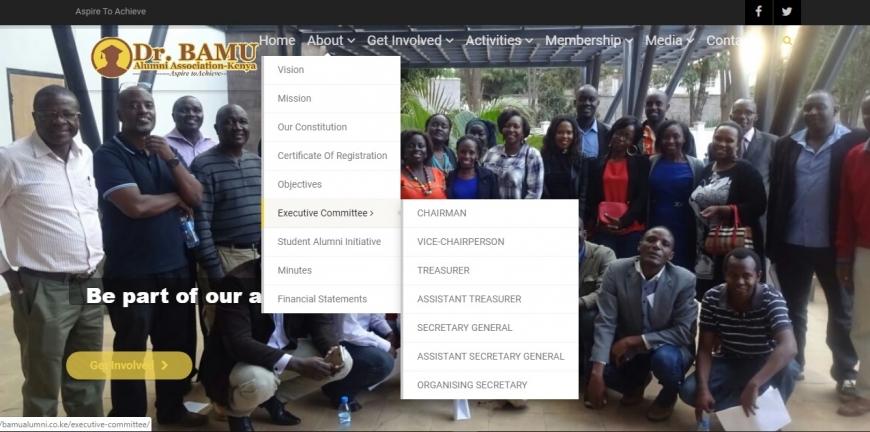 Alumni associations web design